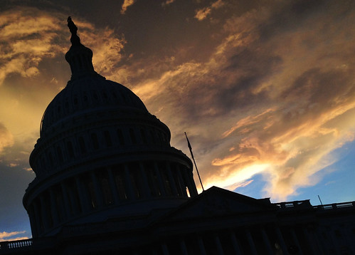 sunset at the capitol