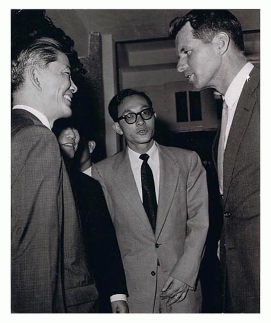 Mr. Ngô Đình Nhu, Trương Bửu Khánh and Bob Kennedy - May 1963