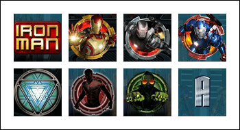 free Iron Man 3 slot game symbols
