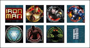 free Iron Man 3 slot game symbols