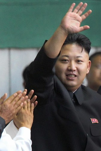 "Kim Jong Un arrives at the ""Arirang"" mass games song-and-dance ensemble, Friday, July 26, 2013 on the eve of the 60th anniversary of the Korean War armistice in Pyongyang, North Korea. by Pan-African News Wire File Photos"