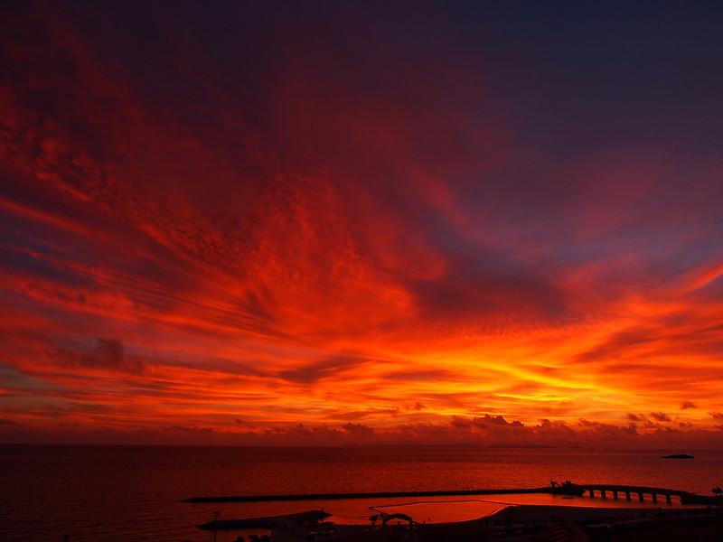 Sunset in Okinawa 沖縄の夕焼け