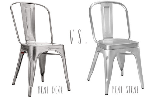 tolixrealdealvsrealsteal. The real Tolix Marais chairs ...