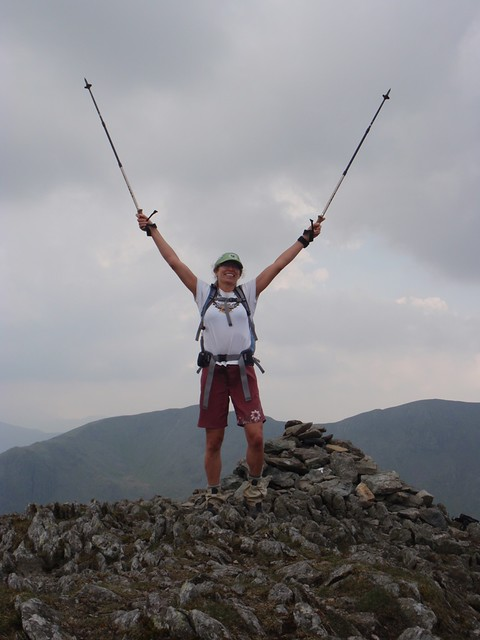Yay!  (On top of St. Sunday Crag)