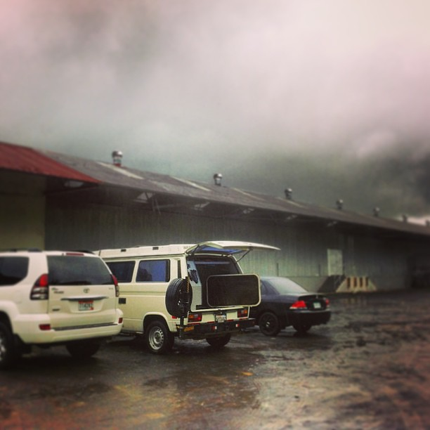 Waiting for police inspection in #panama. #vw #vanenvan #westy #vanagon #vwt3