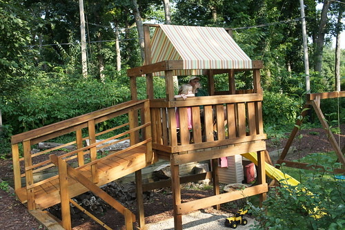 Finished Playset with Canopy & DIY Playset Canopy u2013 Angela Pingel