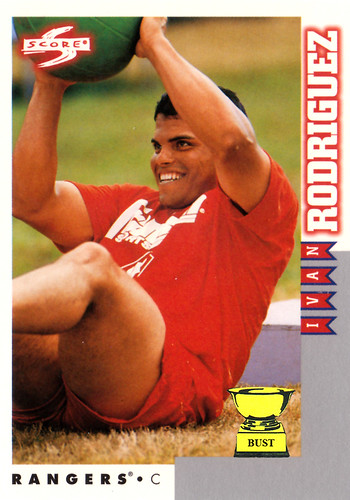 Baseball Card Bust Ivan Rodriguez 1998 Score