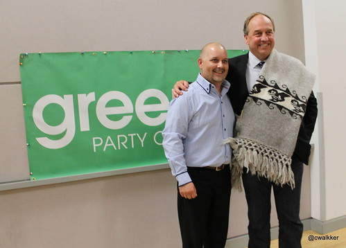 Adam Olsen - now Interim Leader - and Andrew Weaver MLA © photo by Carrie McLaren (Green Carrie on flickr)