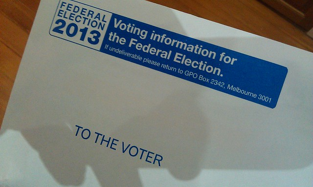 "Liberal party mail disguised as ""Voting information"""