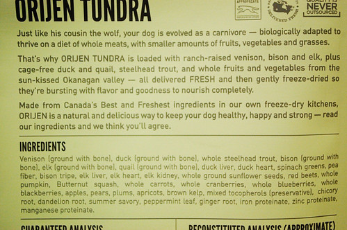 Buffalo Dog Food Ingredients