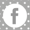 grey white polka dot facebook social media icon