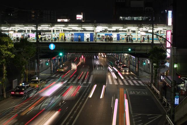 Tokyo Train Story 夜の西日暮里駅 2013年9月11日