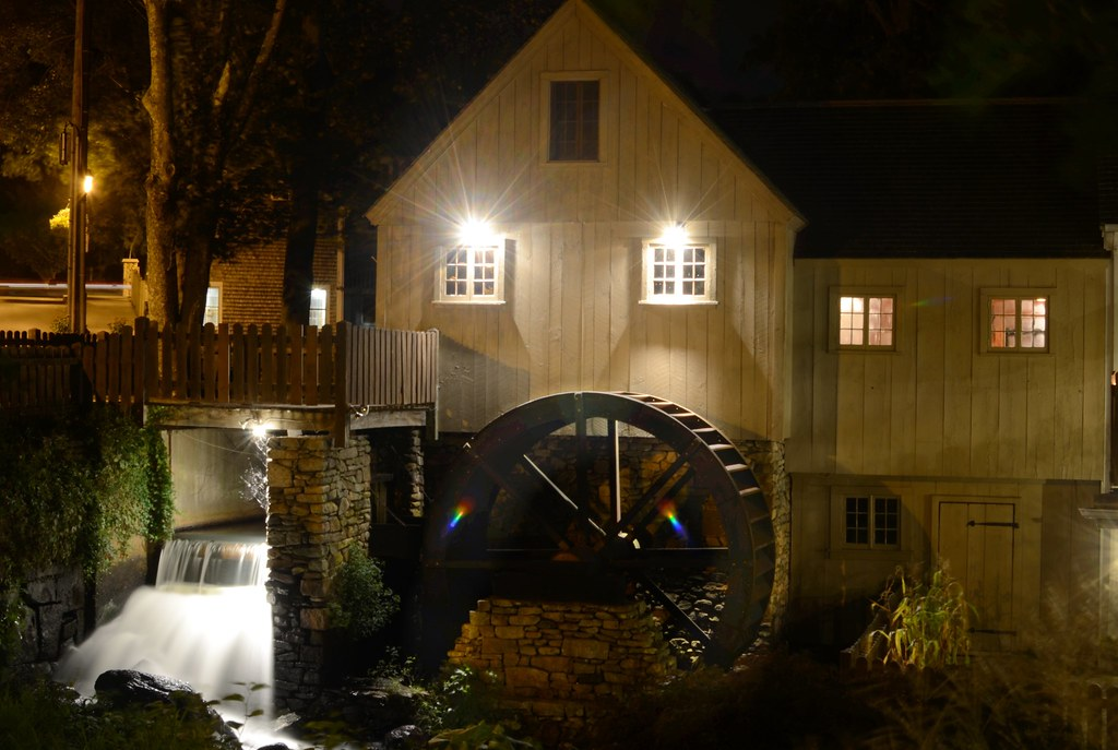 Nightscapes Gristmill and Bridge