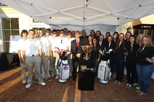 The Presidents Cup Plaza Dedication