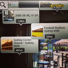 Using @metaioDE #augmentedreality app #Junaio in #Sydney #Australia - panoramio...shows panoramas of landmarks