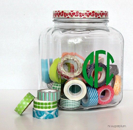 Hi Sugarplum | Monogrammed Craft Jar