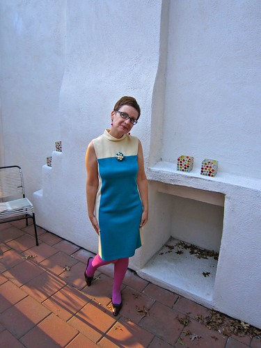 Kelly Arden Dress - Blue Block - One of The Four Sisters
