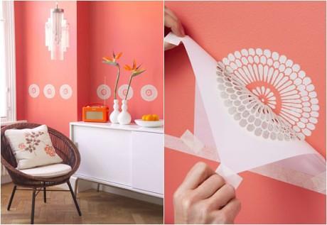 Tecnicas decorativas de pintura en paredes Plantillas decorativas ikea