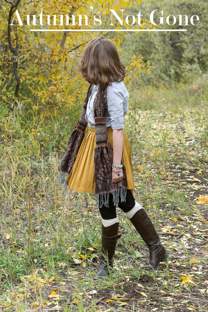 Popbasic, boyfriend Shirt, autumn, fall, golden, skirt