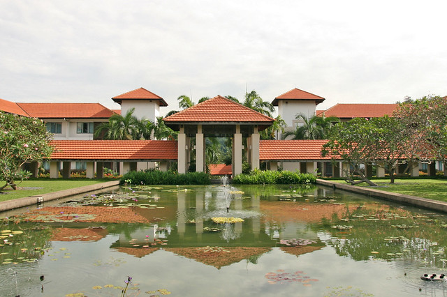 The Sentosa Resort & Spa has lots of water features including lily ponds