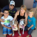 The best photo ever!!!  Chance and his new family. by Eldad Hagar (Please support Hope For Paws)