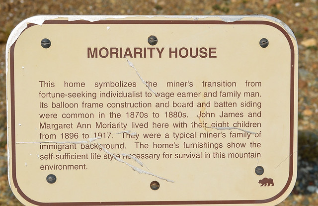 Moriarity House plaque.