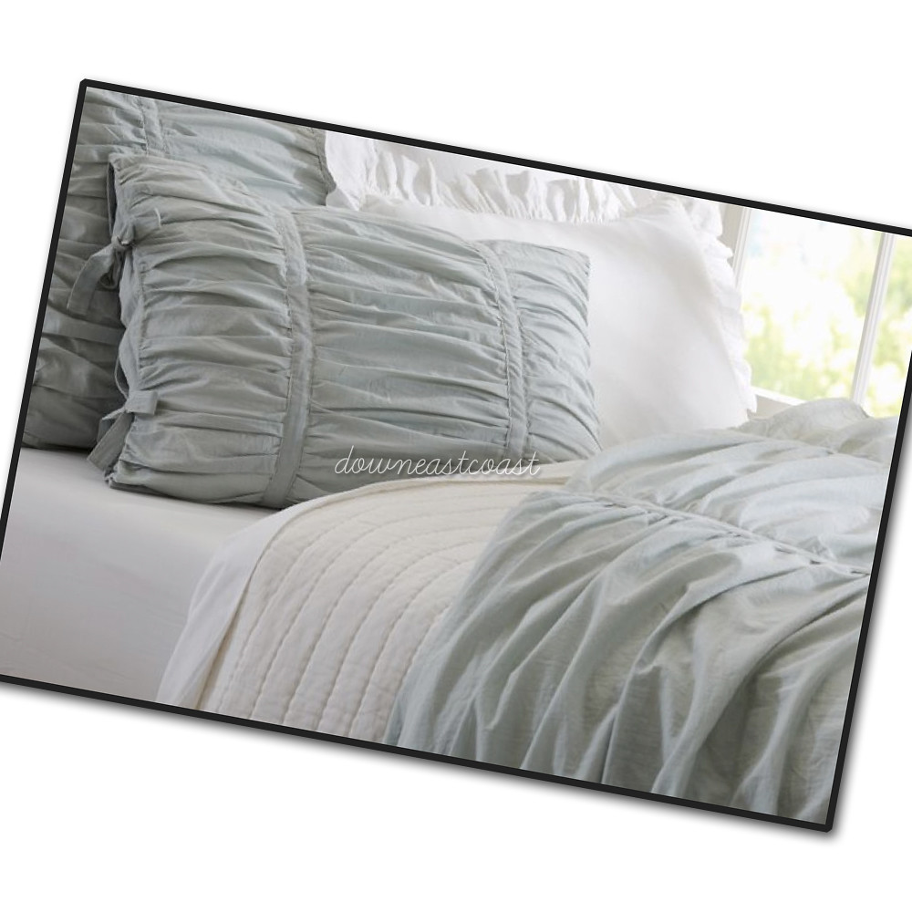 Hadley Ruched Duvet Cover New Pottery Barn Hadley Ruched