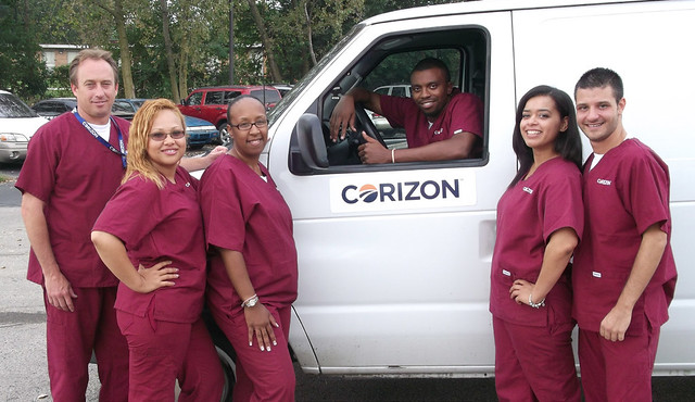"Philly team ""Corizon-izes"" van"