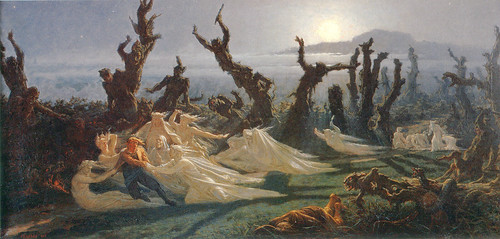 "Jean-Édouard Dargent (French, 1824-1899) , ""Les Lavandières de la nuit"" (""The Washerwomen of the Night""), c.1861"
