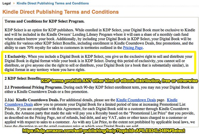 KDP terms prohibit ANY other kind of eBook distribution, free or otherwise