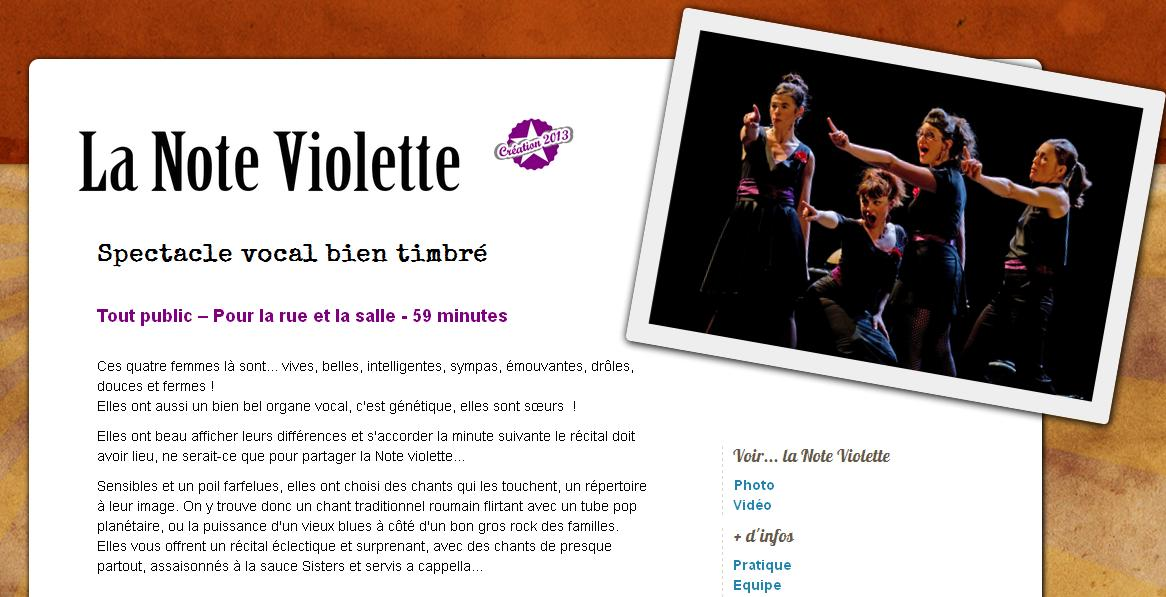 note violette