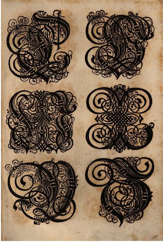 Paulus Franck - 'Schatzkammer Allerhand Versalien Lateinisch vnnd Teutsch', 1601 alphabet b
