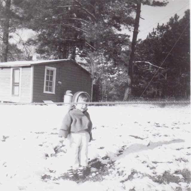 Me, a long time ago, Texas, in the snow