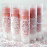 Homemade rose flavoured lip balm
