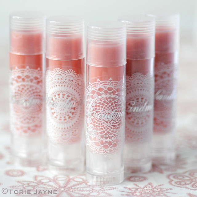 Homemade rose flavoured lip balm
