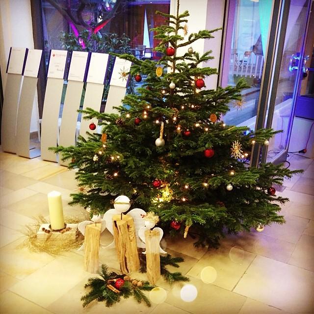 Традиционные ангелы-бревнышки и сушеные лимоны на елке в моей гостинице. #xmas #christmas #xmastree #christmastree #tree #winter #december