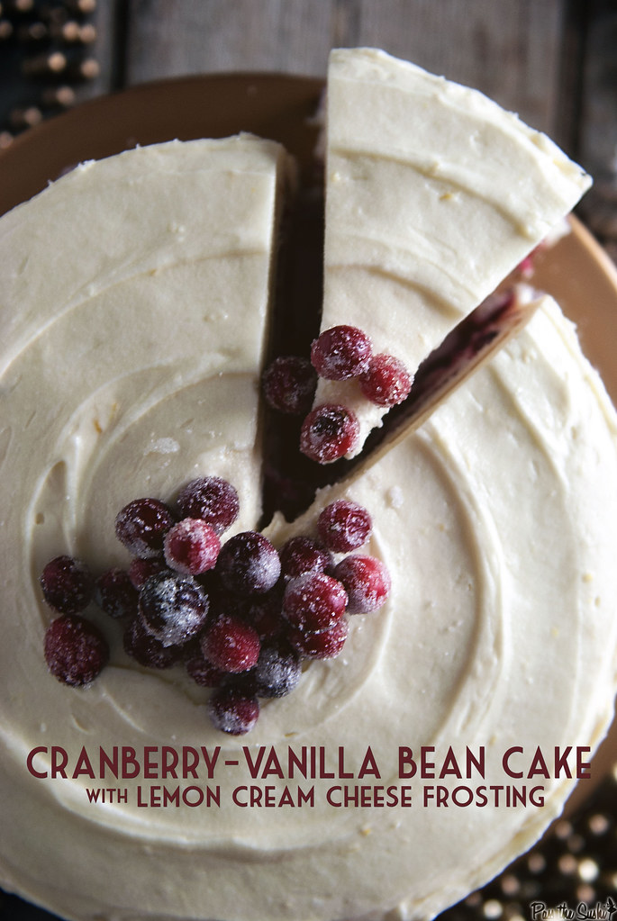 Cranberry Vanilla Bean Cake from PasstheSushi.com
