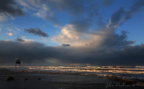 morning travel winter light sea sky beach water clouds sunrise landscape israel asia waves haifa