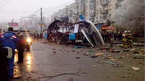 Volgograd bus blasts on December 30, 2013 in southern Russia. There were two attacks in two days. by Pan-African News Wire File Photos