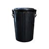 Rubbish Bin - 75L - Black SRUB30