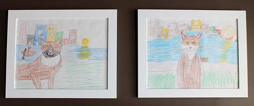 mudroom artwork #mudroom #renovation #children'sart