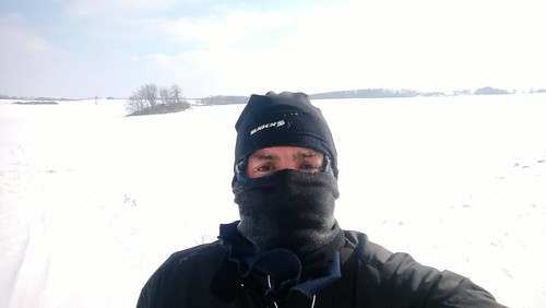 8 mile run.  15 mph winds. sub-zero windchills. snow blindness.  looking for a tauntaun to crawl into.