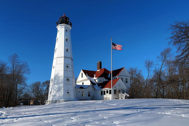 North Point Lighthouse in Winter