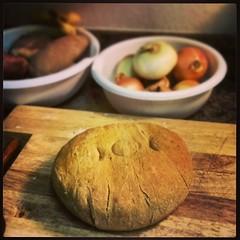 Andama Bread made with organic cornmeal and molasses!