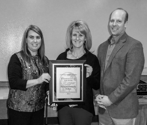 Janelle Moran, Center for Rural Affairs REAP Loan Specialist and Kimberly and David Nelson. on Flickr