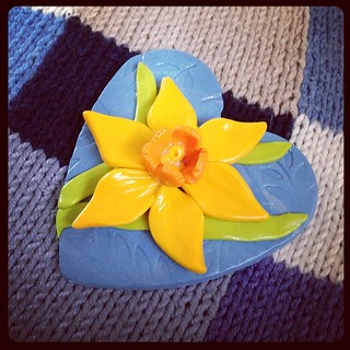 Quite pleased with my first daffodil craft. Love you, little boy. #BabyFreddie #babyloss