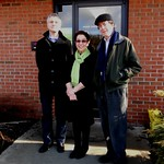 Gill and David with past Hollis Summers Poetry Prize winner Joshua Mehigan