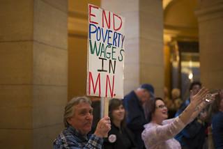 Rally to raise the Minnesota minimum wage