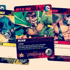 Card game battle -- DC vs. Marvel! -- today at www.LongboxGraveyard.com. #comicbooks