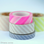Diagonal stripe washi tape